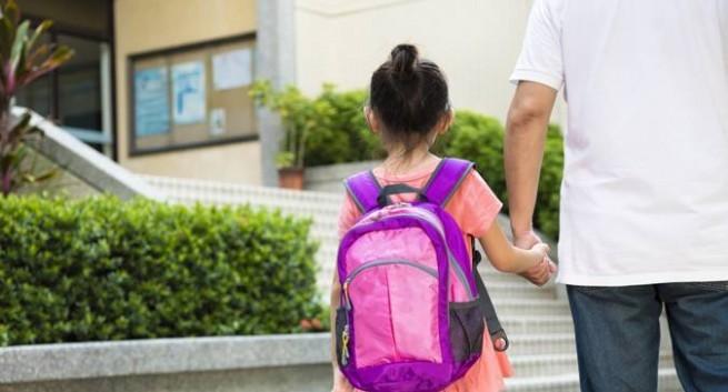 Tác hại khi trẻ đeo cặp sách nặng