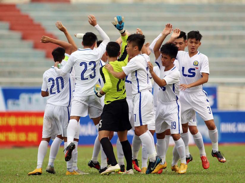 Đàn em Công Phượng - U17 HAGL vô đối ở giải U17 quốc gia. Ảnh: Bóng đá