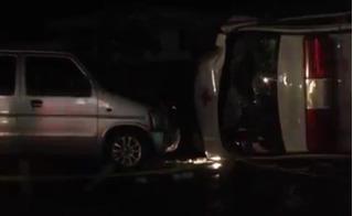 Clip cận cảnh xe cứu thương gây tai nạn liên hoàn tại Bến Tre