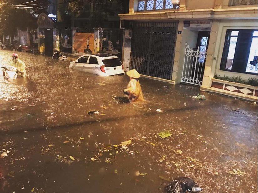 mưa lớn ở Hà Nội 6