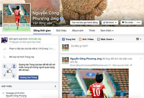 Công Phượng rất nổi tiếng tại Việt Nam. Ảnh: Thể thao