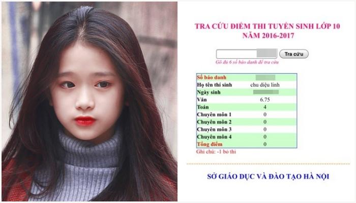 điểm thi cấp 3 của Linh Ka 2