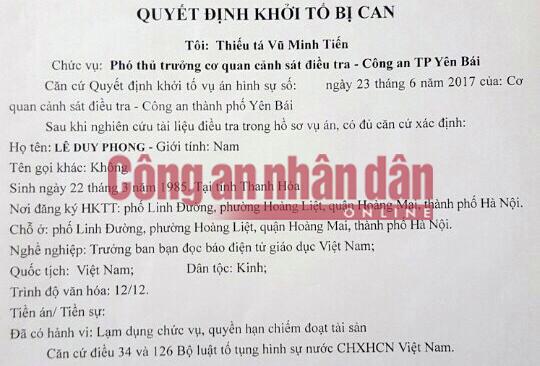 Nhà báo Duy Phong bị bắt giữ