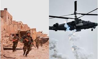 Trên đe dưới búa, quân đội Syria và Nga hợp sức đánh khủng bố IS tan tác