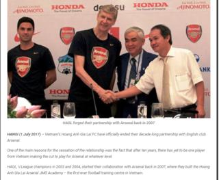 AFF nhận xét bất ngờ về việc CLB HAGL chia tay Arsenal
