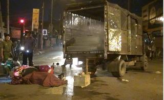 """Xe tải """"nuốt"""" trọn xe máy khiến nam thanh niên chết thảm trên đường"""