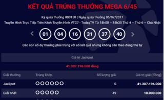 Xổ số Vietlott: Đã có thêm người 'ẵm' giải Jackpot hơn 48 tỷ?