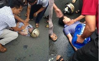 Đang tham gia giao thông trên đường, nam thanh niên bị sét đánh trúng mặt