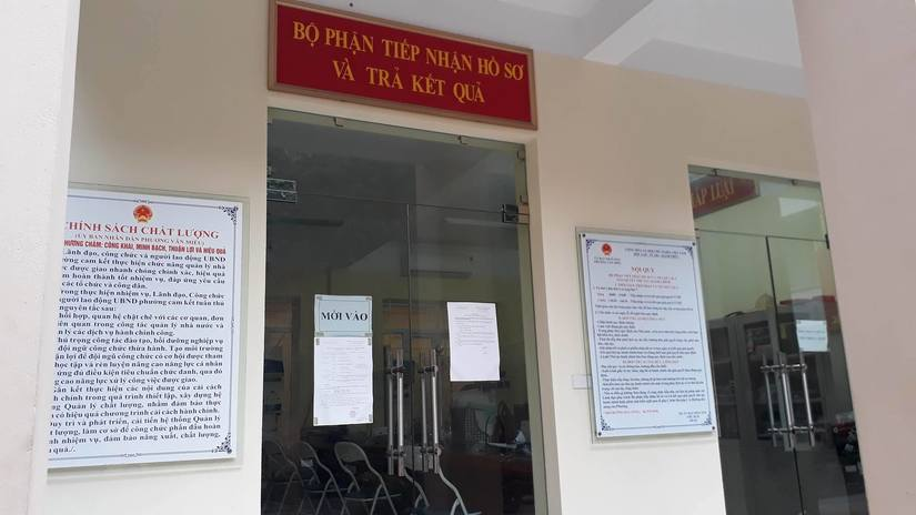 phường hành dân xin giấy chứng tử