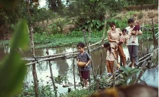 Bỏ xa hào quang sân khấu, gia đình Lý Hải Minh Hà cho 4 con về quê mò cua bắt ốc