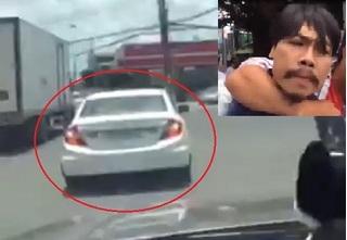 Clip rượt đuổi gay cấn gã Việt kiều trộm ôtô tại Bình Dương