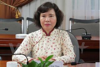 Miễn nhiễm chức vụ đối với Thứ trưởng Hồ Thị Kim Thoa