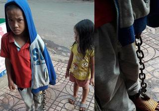 Bé trai bị xích tay chân ở Đắk Lắk gây phẫn nộ
