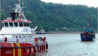 Cứu 19 thuyền viên gặp nạn trên vịnh Bắc Bộ