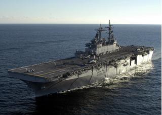 Tàu đổ bộ tấn công Mỹ mang theo cả tá chiến đấu cơ tàng hình đến áp sát Triều Tiên