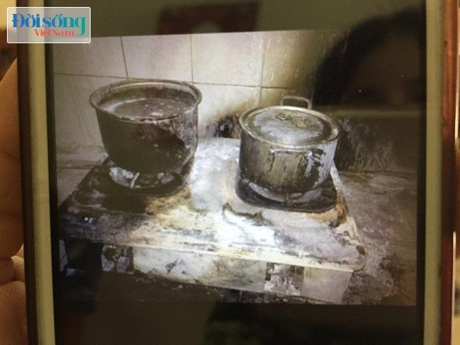 Bếp ga nhà bà Thuận bị cháy đen