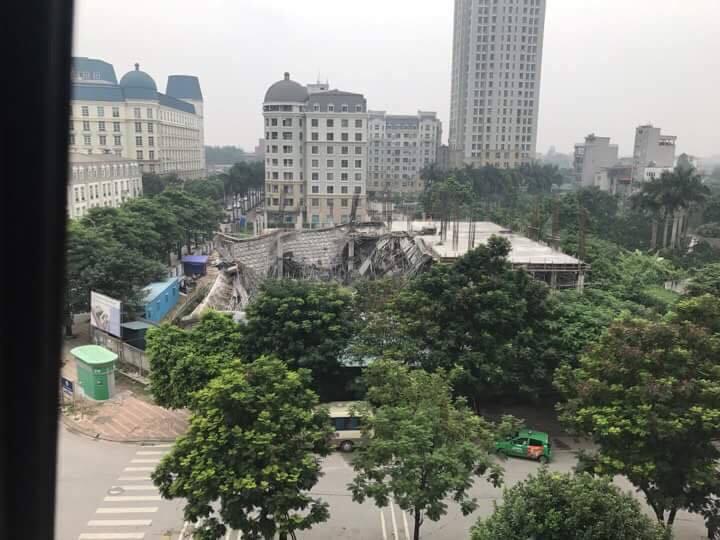 Hà Nội: Trường mầm non Vườn Xanh đổ sập ngay trong đêm