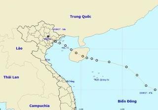 Áp thấp nhiệt đới đổ bộ đất liền và suy yếu dần