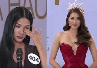 Hoàng Thuỳ bật khóc chỉ sau một câu hỏi của Phạm Hương tại Hoa hậu Hoàn vũ