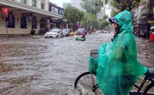 Tin áp thấp nhiệt đới mới nhất: Xuất hiện lũ trên sông Thái Bình