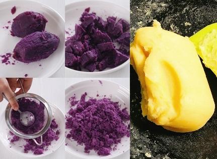 cách làm bánh trung thu handmade khoai lang tím đơn giản