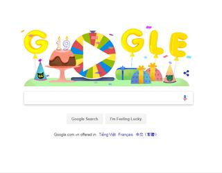 Vòng xoay bất ngờ cho sinh nhật Google khiến cư dân mạng thích thú