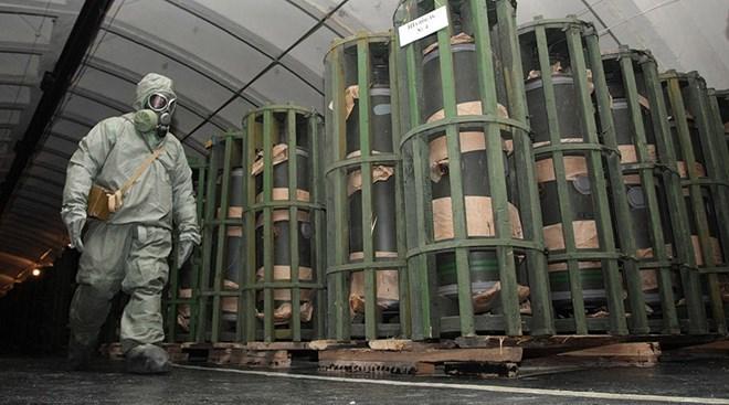 Vũ khí hóa học của Nga có từ thời Chiến tranh Lạnh. Ảnh: Reuters