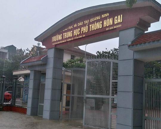 Công an điều tra vụ học sinh rơi từ tầng 5 xuống đất ở Quảng Ninh