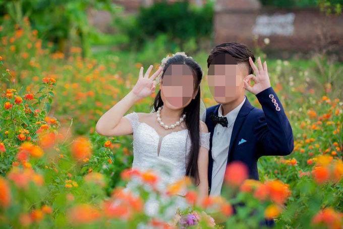 Cô dâu và chú rể 10x ở Bắc Giang gây sốt với bộ ảnh cưới