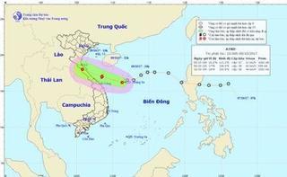 Áp thấp nhiệt đới mạnh lên thành bão vào đổ bộ vào miền Trung