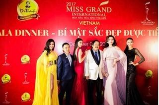Võ Hoàng Yến nổi bật tại thảm đỏ Hoa hậu hòa bình thế giới 2017