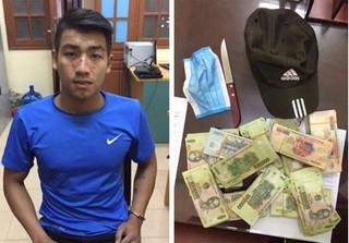 Khởi tố đối tượng mang dao vào ngân hàng cướp 200 triệu ở Bắc Ninh