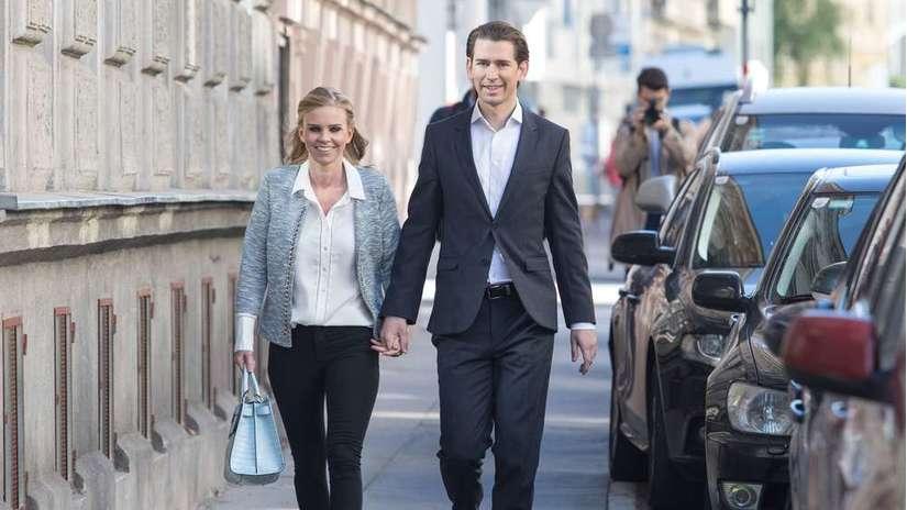 Thủ tướng Áo tương lai trẻ nhất thế giới bên bạn gái. Ảnh: Münchner Merkur