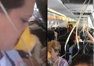 Clip hành khách máy bay mếu máo trăn trối với nhau vì tưởng máy bay rơi sắp chết