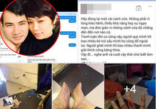Sau khi đăng ảnh bị chồng đánh, vợ Xuân Bắc tung bằng chứng Facebook bị giả mạo