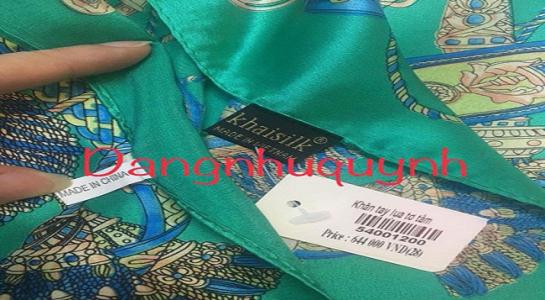 mua khăn Khaisilk made in China khởi kiện thế nào