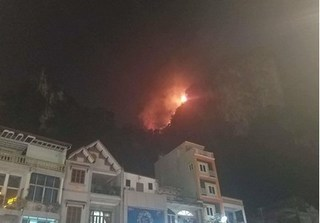 Quảng Ninh cấm người dân lên núi sau vụ hỏa hoạn ở Bài Thơ