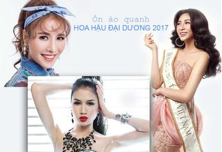 """Những sao Việt """"ăn theo"""" Hoa hậu Đại dương 2017 Lê Âu Ngân Anh"""