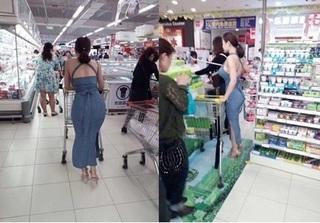 Bị chụp lén khi đi siêu thị, mỹ nhân sở hữu vòng 1 và vòng 3 khủng