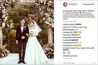 Sau đám cưới thế kỷ, Song Hye Kyo nhắn người hâm mộ như này