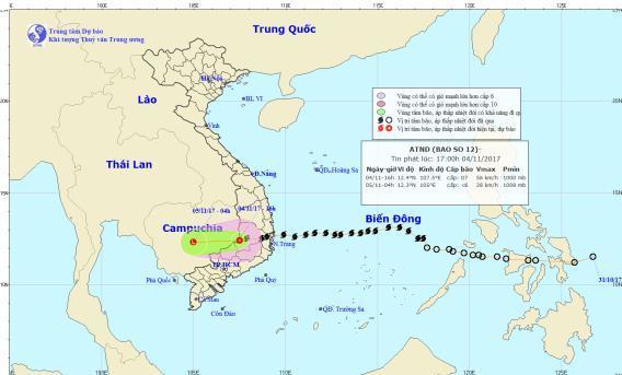 Thông tin về cơn bão số 12