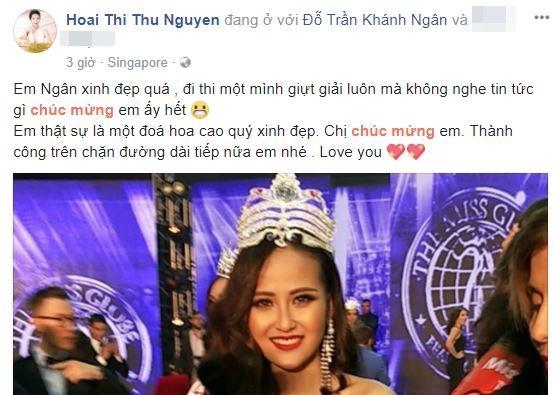 Sao Việt nói gì khi Khánh Ngân đăng quang Hoa hậu Hoàn cầu 2017