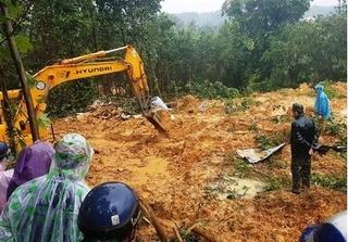 Huy động nhân lực tìm kiếm 4 công nhân thủy điện bị vùi lấp ở Quảng Nam