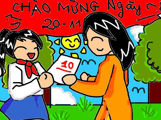 Bức tranh vẽ ngày 20/11 tại Việt Nam tuyệt đẹp dành tặng thầy cô5