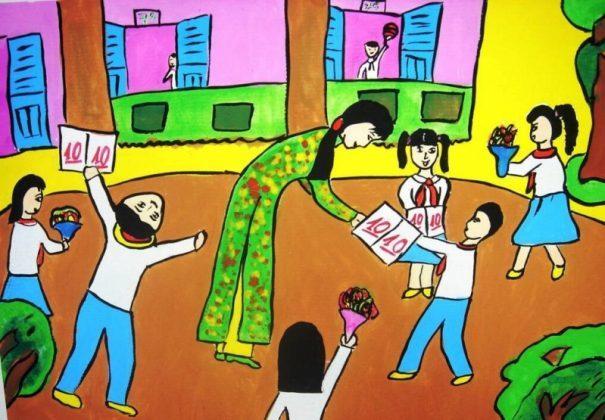Bức tranh vẽ ngày 20/11 tại Việt Nam tuyệt đẹp dành tặng thầy cô9