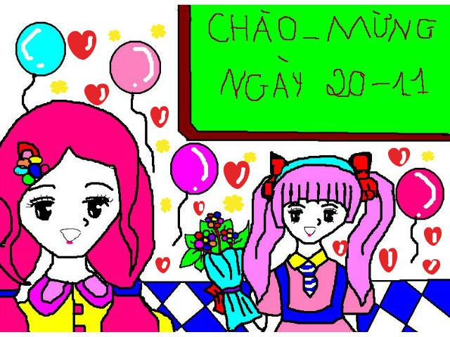 Bức tranh vẽ ngày 20/11 tại Việt Nam tuyệt đẹp dành tặng thầy cô3