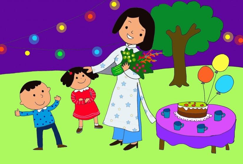 Bức tranh vẽ ngày 20/11 tại Việt Nam tuyệt đẹp dành tặng thầy cô2