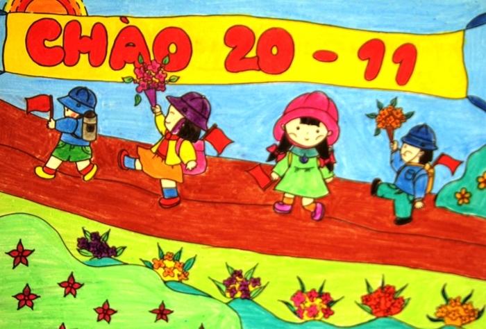 Bức tranh vẽ ngày 20/11 tại Việt Nam tuyệt đẹp dành tặng thầy cô6