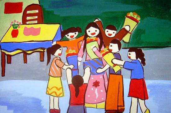 Bức tranh vẽ ngày 20/11 tại Việt Nam tuyệt đẹp dành tặng thầy cô13