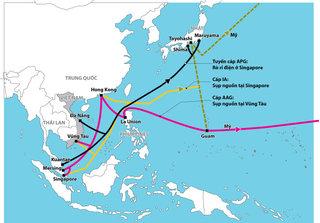 Tuyến cáp quang biển quốc tế AAG gặp sự cố không xác định